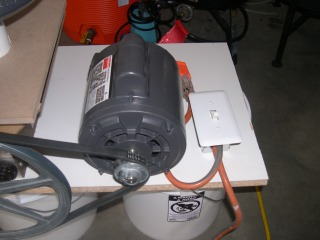 Dayton 1/2HP 1725 RPM.  Wired single phase 115V