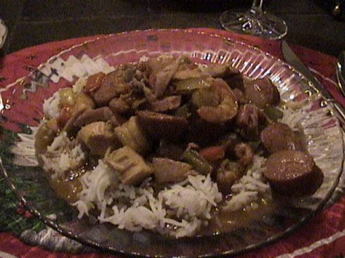 Gumbo Served over Rice