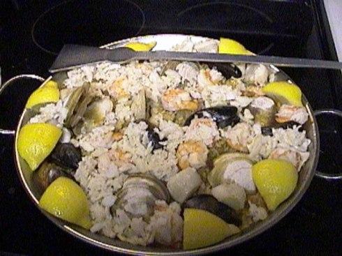 Seafood Paella - finished