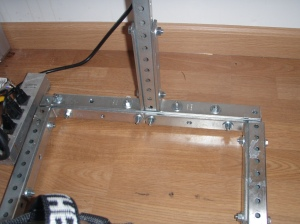 Base Bolted together with Corner Braces