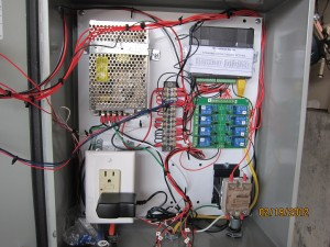 Control Panel - BCS-460, 12V 5A DC PS, 8 Relay Controller